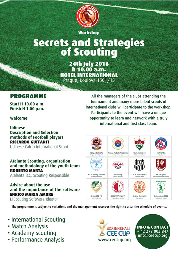 LFScouting Prague workshop program