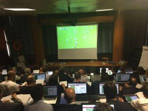 Football observer-practical test with LFScouting